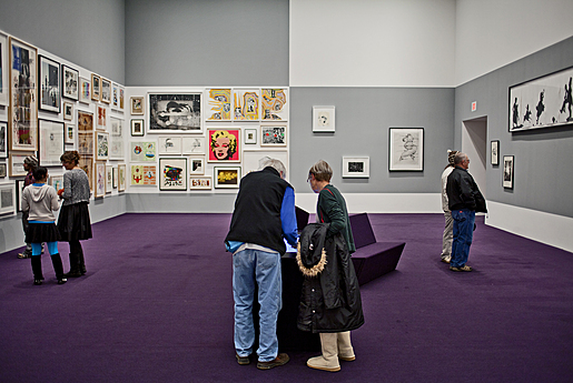 Installation view of the exhibition 50/50: Audience and Experts Curate the Paper Collection
