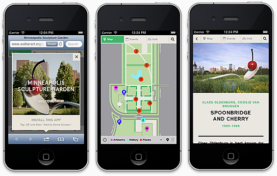 New Web app for the Minneapolis Sculpture Garden