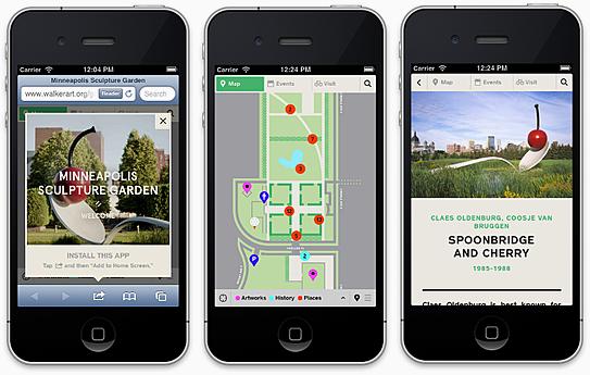 New Web app for the Minneapolis Sculpture Garden