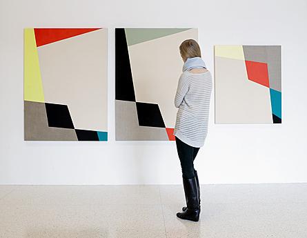 Sarah Crowner's Ciseaux Rideaux (2012) in the exhibition Painter Painter
